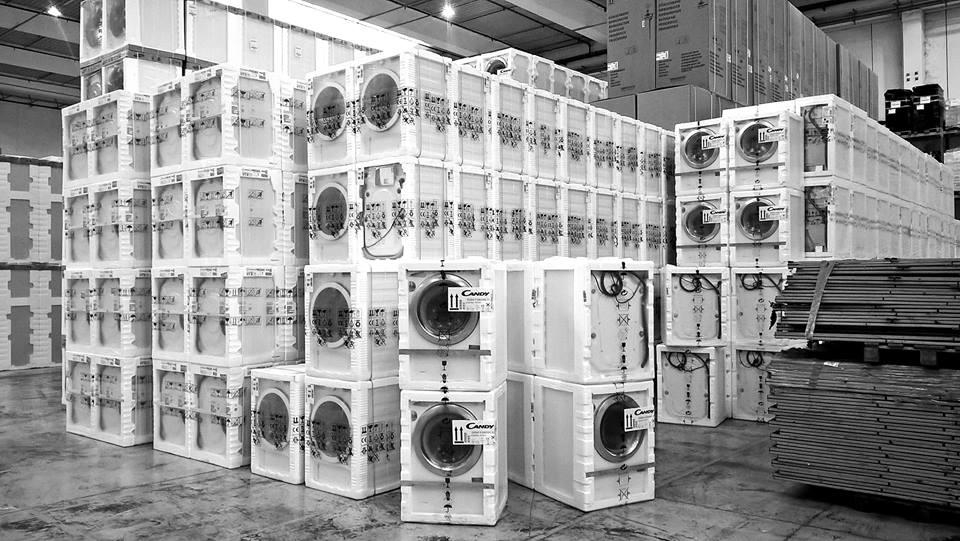 Magazzino lavatrici